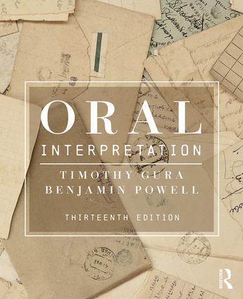 Oral Interpretation: 13th Edition (Paperback) book cover