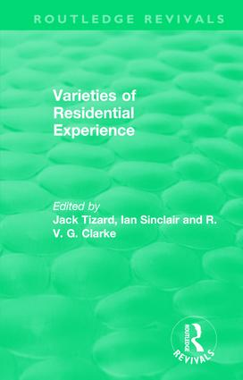 Routledge Revivals: Varieties of Residential Experience (1975) book cover