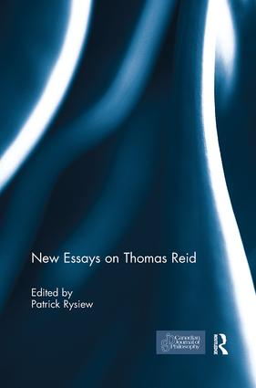 New Essays on Thomas Reid: 1st Edition (Paperback) book cover