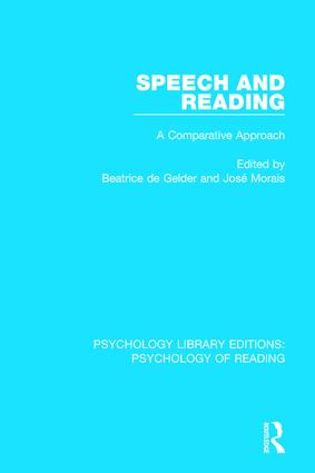 Speech and Reading: A Comparative Approach book cover
