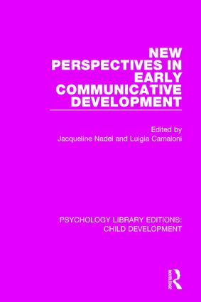 New Perspectives in Early Communicative Development: 1st Edition (Hardback) book cover