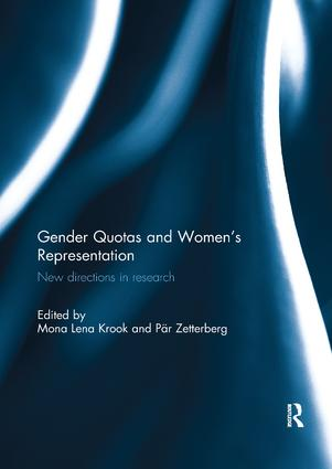 Gender Quotas and Women's Representation: New Directions in Research, 1st Edition (Paperback) book cover