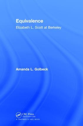 Equivalence: Elizabeth L. Scott at Berkeley, 1st Edition (Hardback) book cover