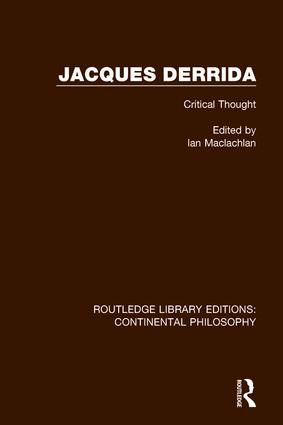Jacques Derrida book cover