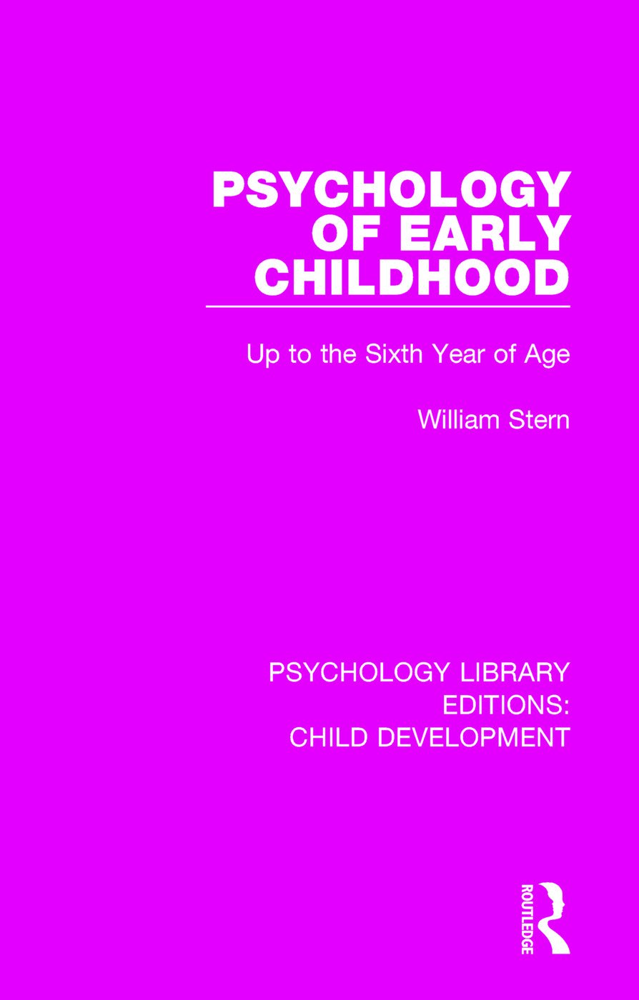 Psychology of Early Childhood: Up to the Sixth Year of Age, 1st Edition (Paperback) book cover