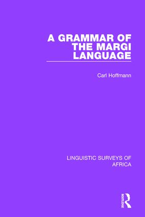 A Grammar of the Margi Language book cover