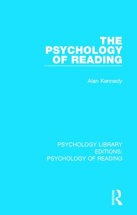 The Psychology of Reading: 1st Edition (Hardback) book cover