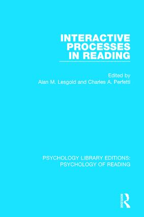 Interactive Processes in Reading book cover