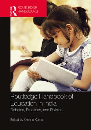 Routledge Handbook of Education in India: Debates, Practices, and Policies, 1st Edition (Hardback) book cover