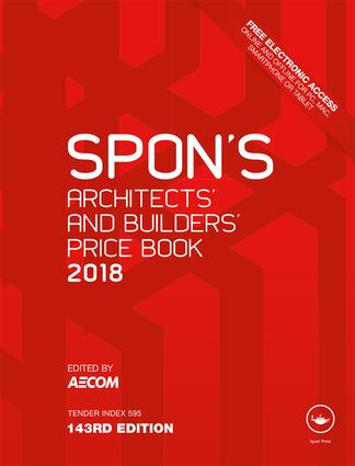 Spon's Architects' and Builders' Price Book 2018 book cover