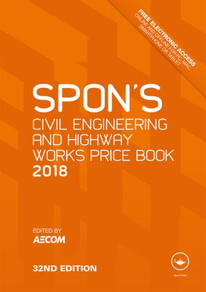 Spon's Civil Engineering and Highway Works Price Book 2018 book cover
