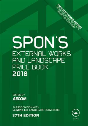 Spon's External Works and Landscape Price Book 2018 book cover