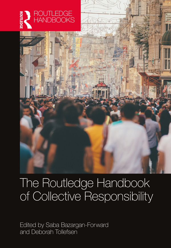 The Routledge Handbook of Collective Responsibility book cover