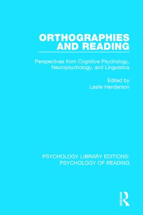 Orthographies and Reading