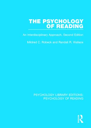 The Psychology of Reading: An Interdisciplinary Approach (2nd Edn) book cover
