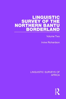 Linguistic Survey of the Northern Bantu Borderland: Volume Two book cover