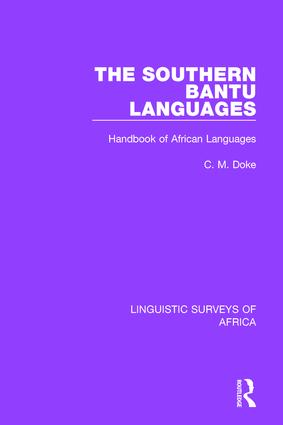 The Southern Bantu Languages: Handbook of African Languages, 1st Edition (Hardback) book cover