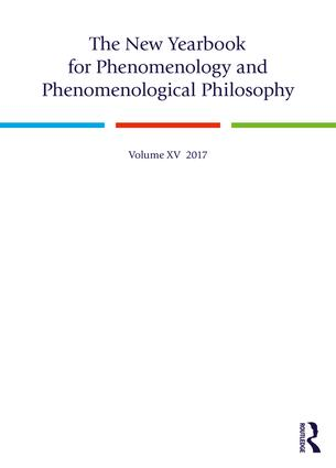 The New Yearbook for Phenomenology and Phenomenological Philosophy: Volume 15 book cover