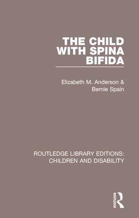 The Child with Spina Bifida: 1st Edition (Paperback) book cover