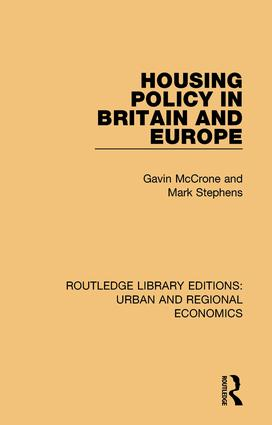 Housing Policy in Britain and Europe book cover