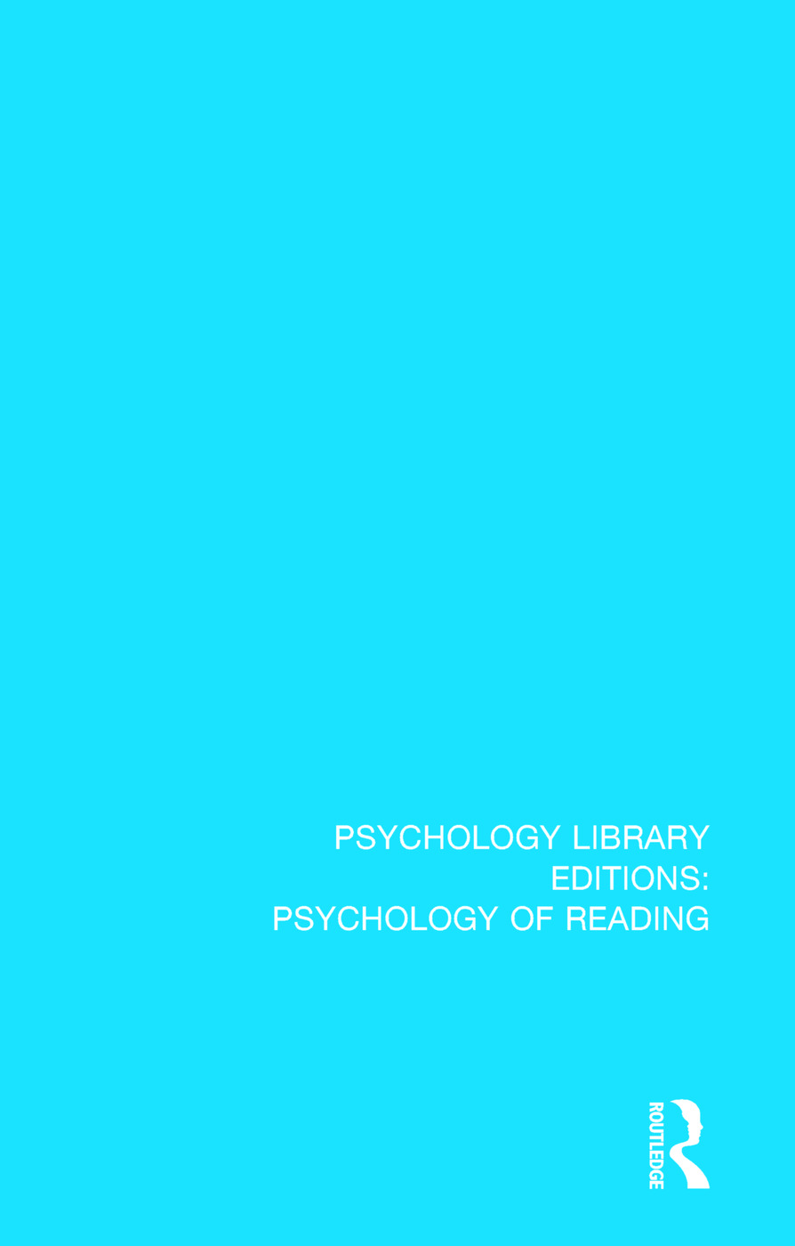 Psychophysiological Aspects of Reading and Learning: 1st Edition (Paperback) book cover