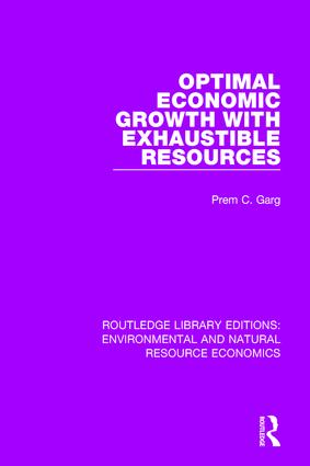 Optimal Economic Growth with Exhaustible Resources: 1st Edition (Hardback) book cover