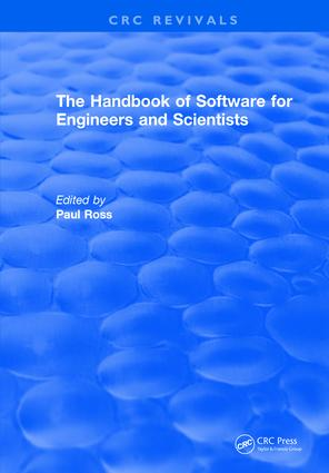 Revival: The Handbook of Software for Engineers and Scientists (1995): 1st Edition (Hardback) book cover