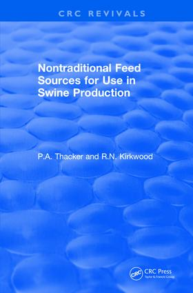 Non-Traditional Feeds for Use in Swine Production (1992): 1st Edition (Hardback) book cover