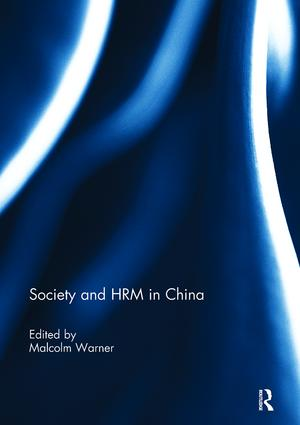 Society and HRM in China: 1st Edition (Paperback) book cover