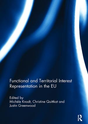 Functional and Territorial Interest Representation in the EU: 1st Edition (Paperback) book cover