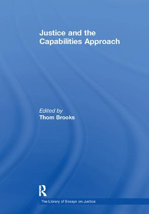 Justice and the Capabilities Approach book cover