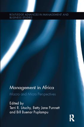Management in Africa: Macro and Micro Perspectives, 1st Edition (Paperback) book cover