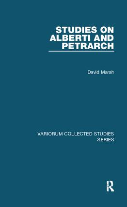 Studies on Alberti and Petrarch: 1st Edition (Paperback) book cover