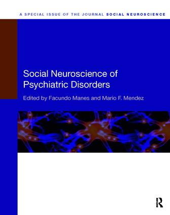 Social Neuroscience of Psychiatric Disorders: 1st Edition (Paperback) book cover