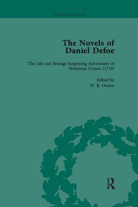 The Novels of Daniel Defoe, Part I Vol 1: 1st Edition (e-Book) book cover