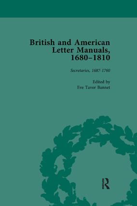 British and American Letter Manuals, 1680-1810, Volume 2: 1st Edition (Paperback) book cover