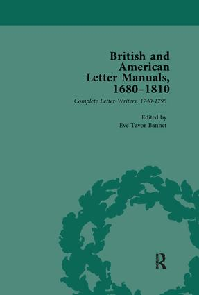 British and American Letter Manuals, 1680-1810, Volume 3: 1st Edition (Paperback) book cover