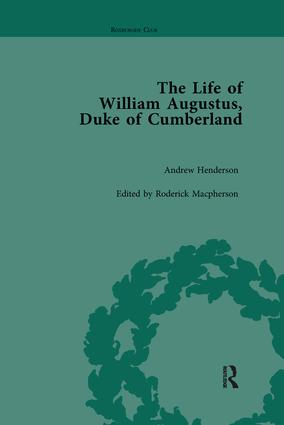 The Life of William Augustus, Duke of Cumberland: by Andrew Henderson, 1st Edition (Paperback) book cover