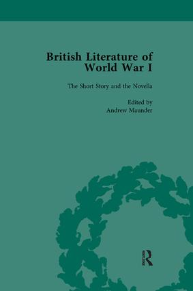 British Literature of World War I, Volume 1: 1st Edition (Paperback) book cover