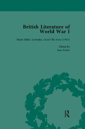 British Literature of World War I, Volume 3: 1st Edition (Paperback) book cover