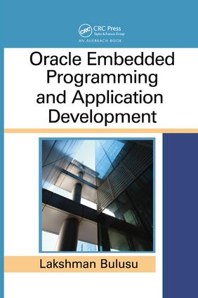 Oracle Embedded Programming and Application Development: 1st Edition (Paperback) book cover