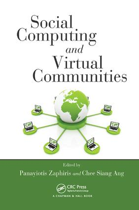 Social Computing and Virtual Communities: 1st Edition (Paperback) book cover