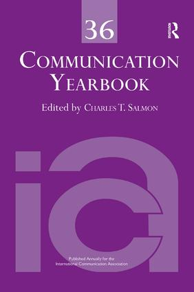 Communication Yearbook 36: 1st Edition (Paperback) book cover