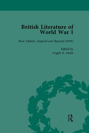 British Literature of World War I, Volume 4: 1st Edition (Paperback) book cover