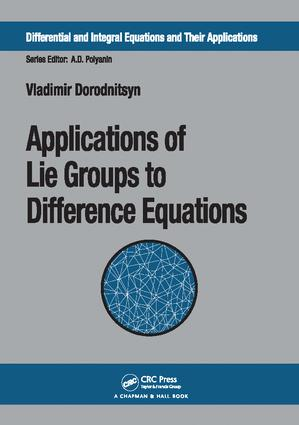 Applications of Lie Groups to Difference Equations: 1st Edition (Paperback) book cover