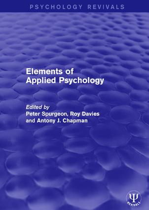 Elements of Applied Psychology