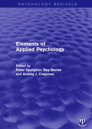 Elements of Applied Psychology book cover