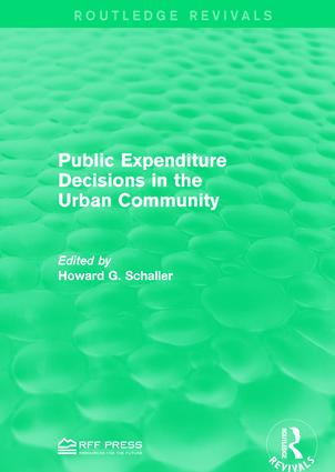 Public Expenditure Decisions in the Urban Community