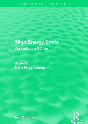 High Energy Costs: Assessing the Burden, 1st Edition (Paperback) book cover