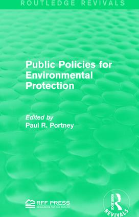Public Policies for Environmental Protection book cover
